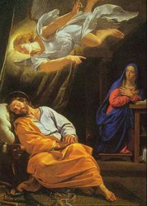 Philippe de Champaigne's The Dream of Saint Joseph painted around 1636.