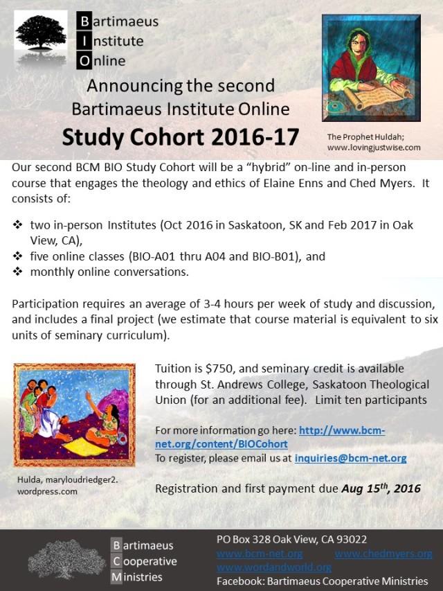 Cohort Flyer 2016-17