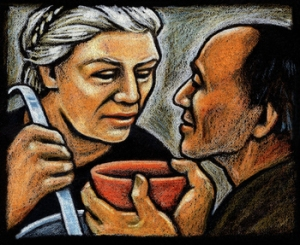 Dorothy Day in the Soup Kitchen